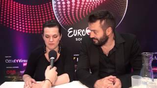 Interview Marta Jandová & Václav Noid Bárta - Eurovision 2015 Czech Republic
