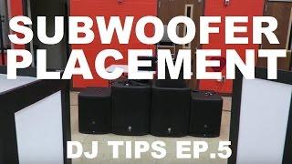Mobile DJ Subwoofer Placement Tips