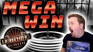 Big Win in Lightning Roulette