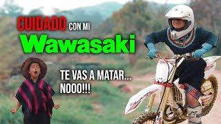 Maria aprendiendo a manejar la MOTOCICLETA / FINAL INESPERADO