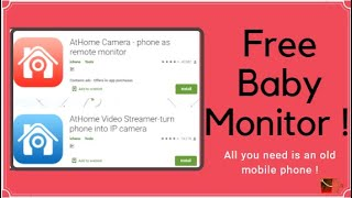 Turn Your Old Phone Into Baby Monitor For Free | Free CCTV Camera | AtHome screenshot 1