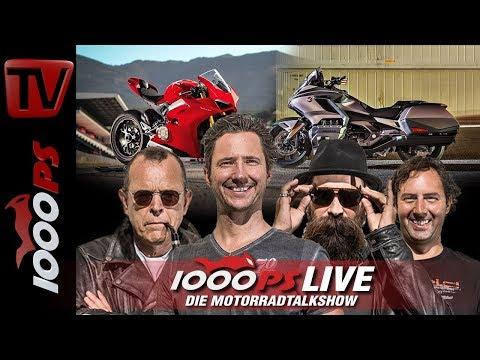 1000PS Live - Die Motorradtalkshow - Panigale V4 und Goldwing im Test