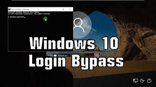 Windows 10 Login Bypass