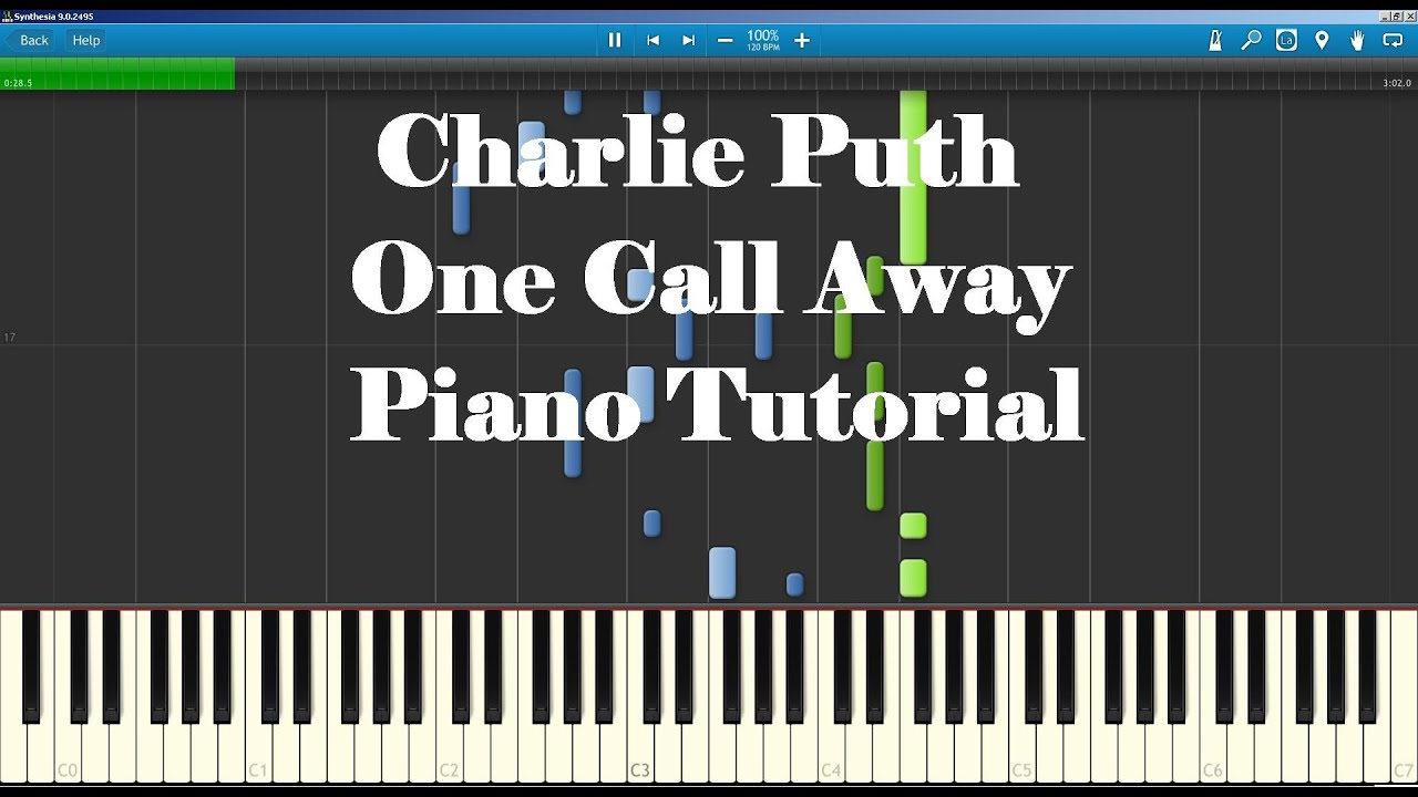 Charlie puth one call away piano tutorial how to play youtube hexwebz Images