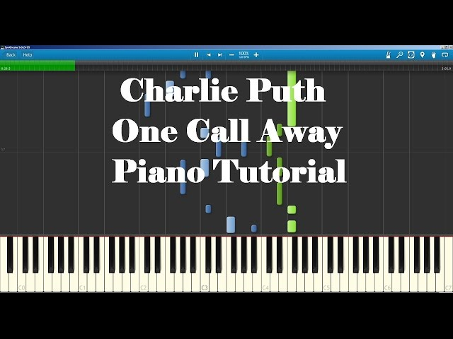 Piano piano chords of one call away : Charlie Puth - One Call Away - Piano Tutorial How to Play - YouTube
