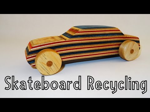 Wooden toys for charity - Skateboard Recycling | How To Woodworking