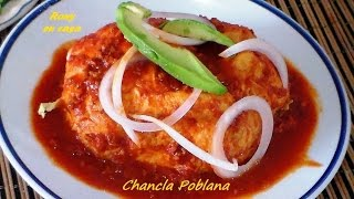 Comida mexicana CHANCLAS POBLANAS receta fácil - Mexican Recipe / Rony en casa
