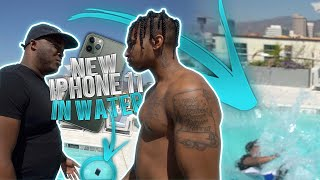 Download THROWING MY BROTHER DDG'S NEW IPHONE 11 PRO IN THE POOL !!! Mp3 and Videos