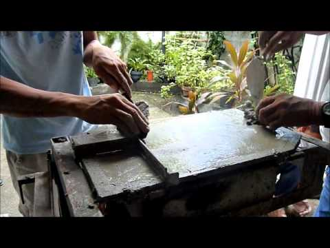 How To Make A Micro Concrete Roof Tile Youtube