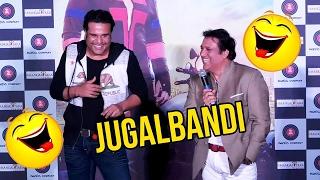 Govinda & Krushna Abhishek's COMEDY Jugalbandi At Aa Gaya Hero Trailer Launch Event
