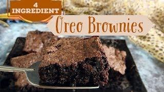 4 Ingredient Oreo Brownie | easy quick oreo biscuit brownie recipe | how to make oreo brownie