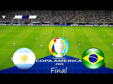 ARGENTINA vs BRAZIL 4-0 FINAL COPA AMERICA 2021 - Full Match All Goals HD - PES 2021