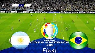 ARGENTINA vs BRAZIL 4 0 FINAL COPA AMERICA 2021 Full Match All Goals HD PES 2021