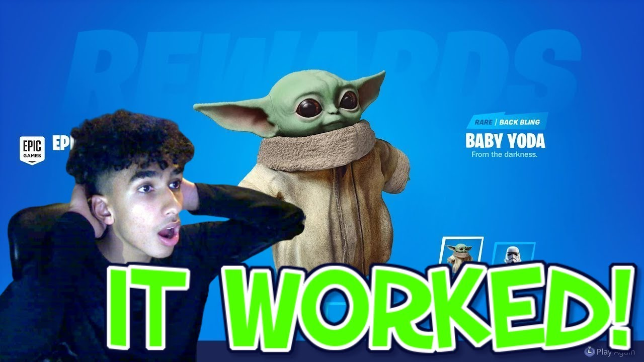 How To Get Baby Yoda In Fortnite Pet Back Bling Youtube In order to get baby yoda in fortnite, players are going to have to hit level 100. how to get baby yoda in fortnite pet