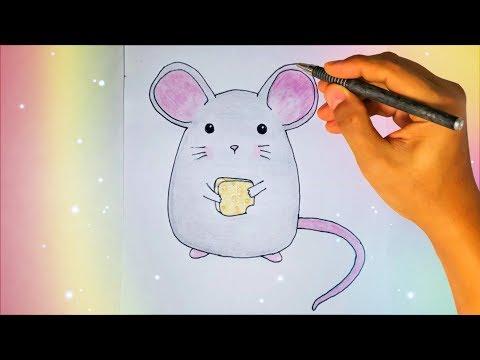 Как нарисовать мышь легко