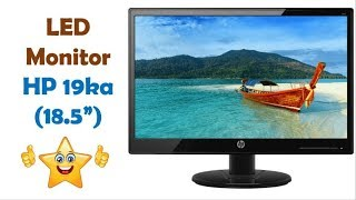 HP 19ka LED Monitor Unboxing and Review   HP LED Monitor 18.5 Inch