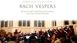 Bach Vespers: A Lutheran Vespers Service at the Time of Bach