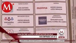 INE no quitará a Margarita Zavala de las boletas