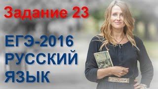 Задание 23 ЕГЭ по русскому языку