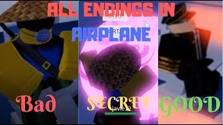 Airplane {UPDATE} l All Endings l ROBLOX