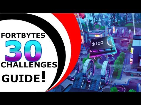 FORTNITE FORTBYTES CHALLENGES GUIDE #29 - SEASON 9 [FORTBYTES #94#23#28#5#34#37...