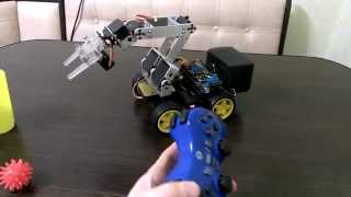 Манипулятор на arduino и PS3 джойстик