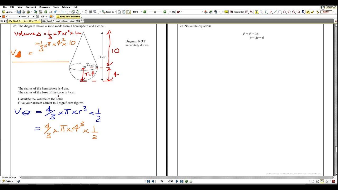 1mao2h array q25 2014 maths a paper2 edexcel 1mao 2h model answers youtube rh youtube com fandeluxe Choice Image