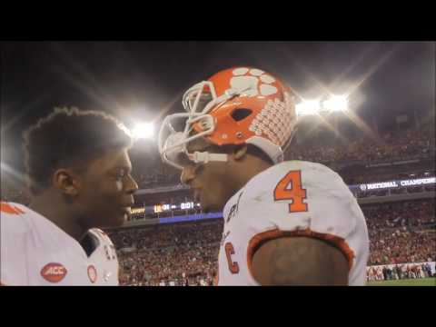 Here's the view of Clemson's sideline as winning touchdown was scored
