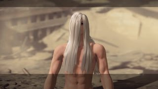 Naked Sephiroth Akechi Mitsuhide Boss Fight Hard Mode - NieR Automata