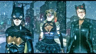 Batman Arkham Knight - Harley Quinn vs BatGirl vs Catwomen