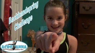 The Back Handspring Challenge | Annie the Gymnast | Acroanna