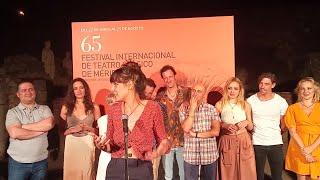 Belén Cuesta, feliz tras su debut en el Festival de Mérida con 'Metamorfosis'