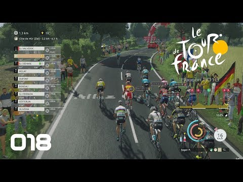 Tour de France 2018 [PS4] #018 - Hoch zur Mur de Bretagne - Let's Play