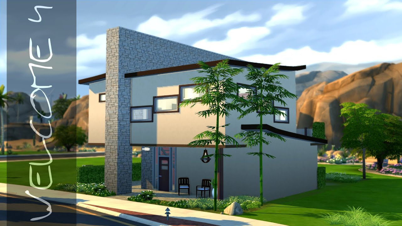 The Sims 4 Modern House - Welcome 4 - small [HD] + Download - YouTube