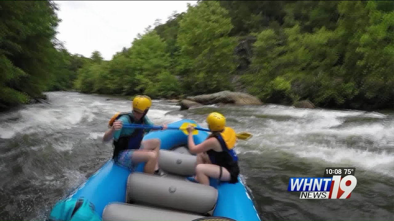 WHNT News 19 goes white water rafting