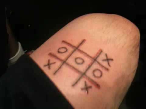 tic tac toe tattoo youtube