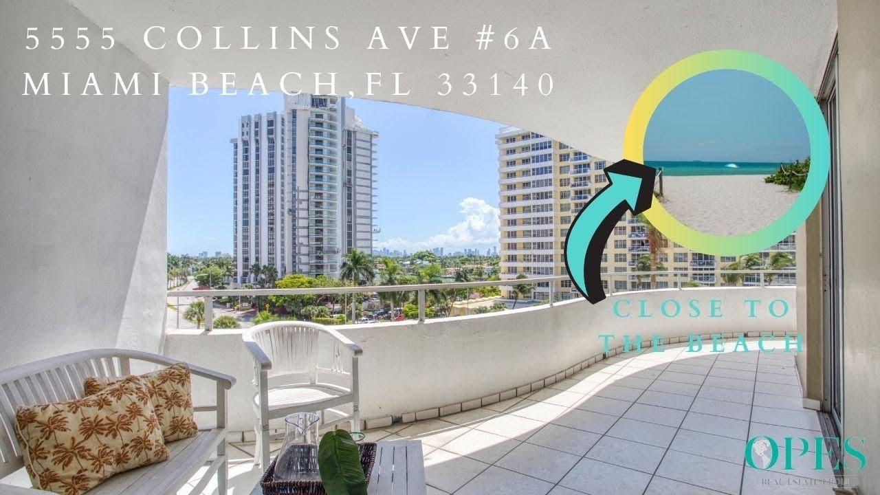 Miami Beach Condo For Sale In Oceanfront Building - 5555 Collins Ave #6A, Miami Beach, FL 33140