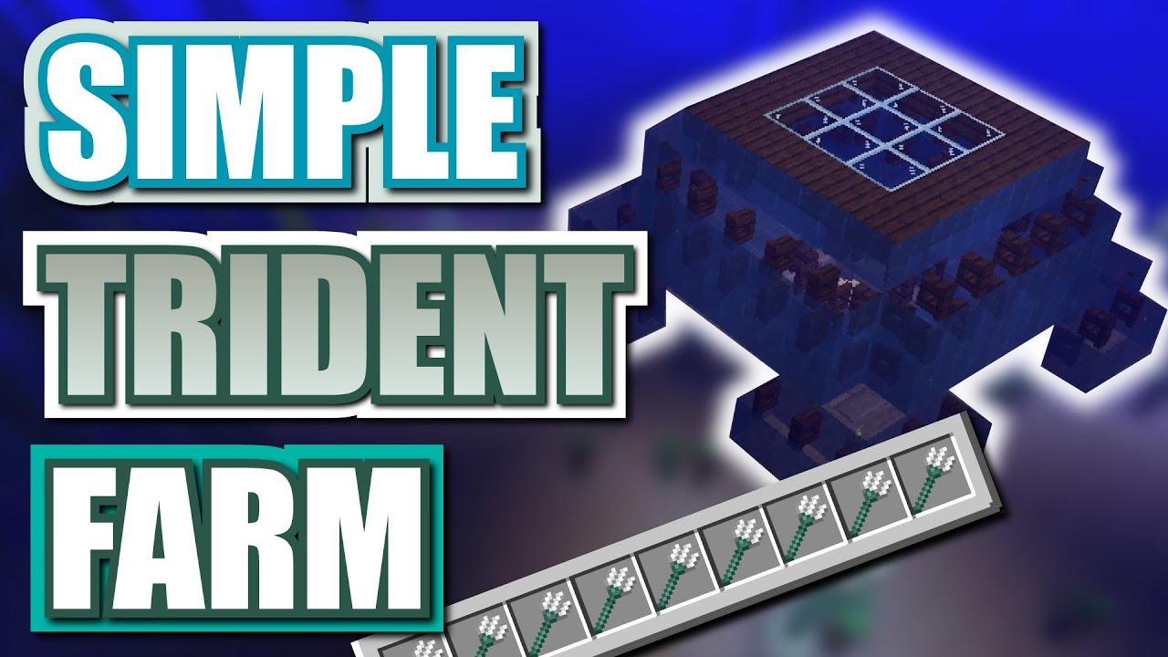 Minecraft Easy Trident Farm Youtube