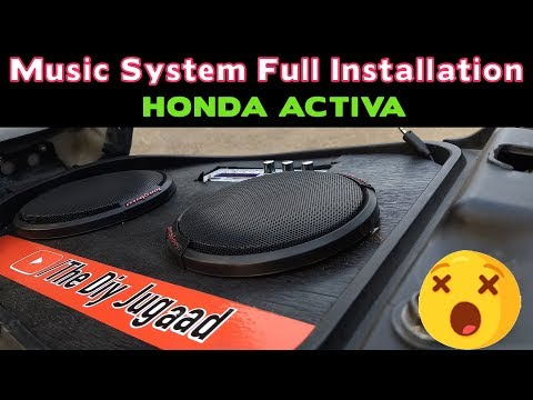 Full Music System Installation In Scooter   Music On The Go