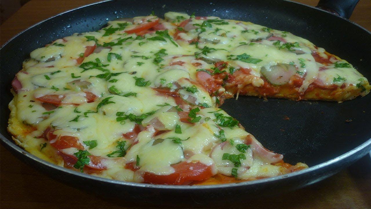ПИЦЦА на сковороде за 5 минут / Быстрый рецепт пиццы