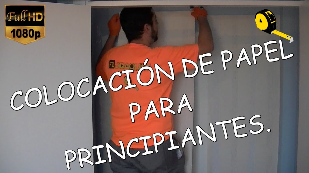 como colocar papel pintado youtube