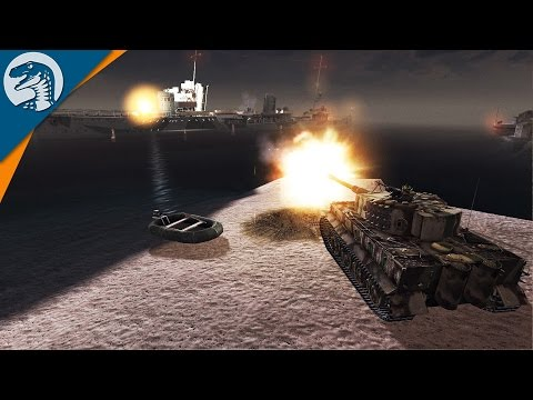 TIGER TANK VS. BIG SHIP | LRBM MOD | Men of War: Assault Squad 2 [MOD] Gameplay