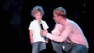 Brian and Baylee on stage