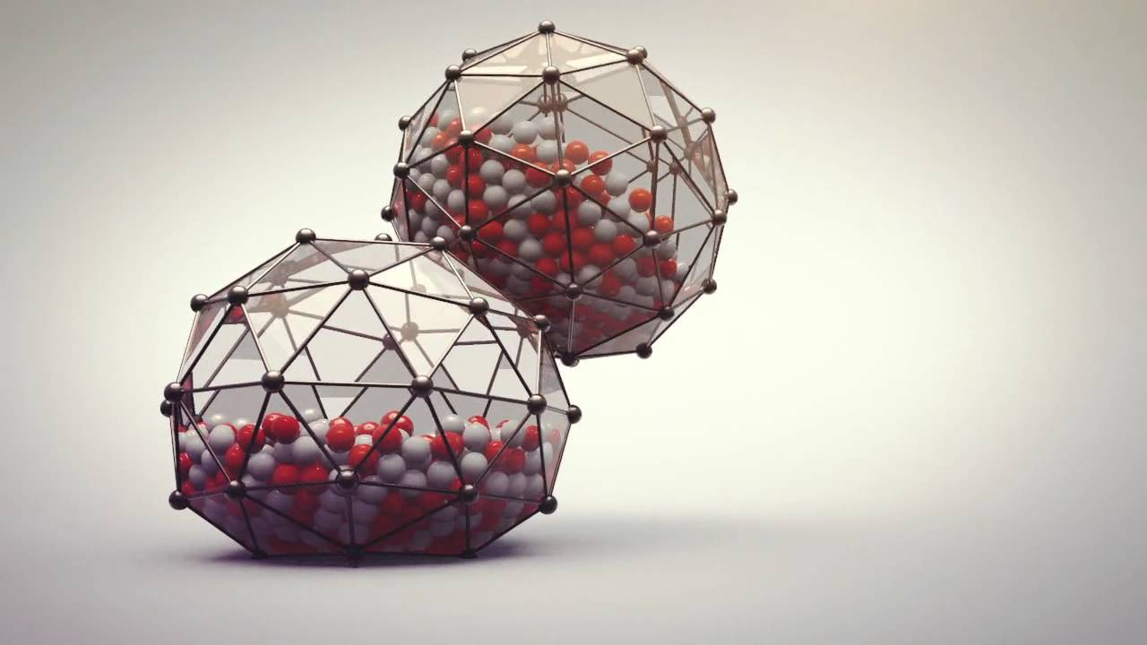 Soft Body Dynamics with glass spheres - © Nick Campbell, Greyscale Gorilla, made with Cinema 4D