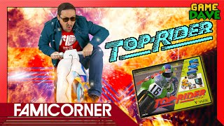 Inflatable Motorcycle Controller : Top Rider on Famicom - FamiCorner Ep 16 | Game Dave