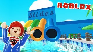 JULIAN PLAYS ROBLOX TO 1.MAL! Escape from water park! Playmobil Film German Family Bird