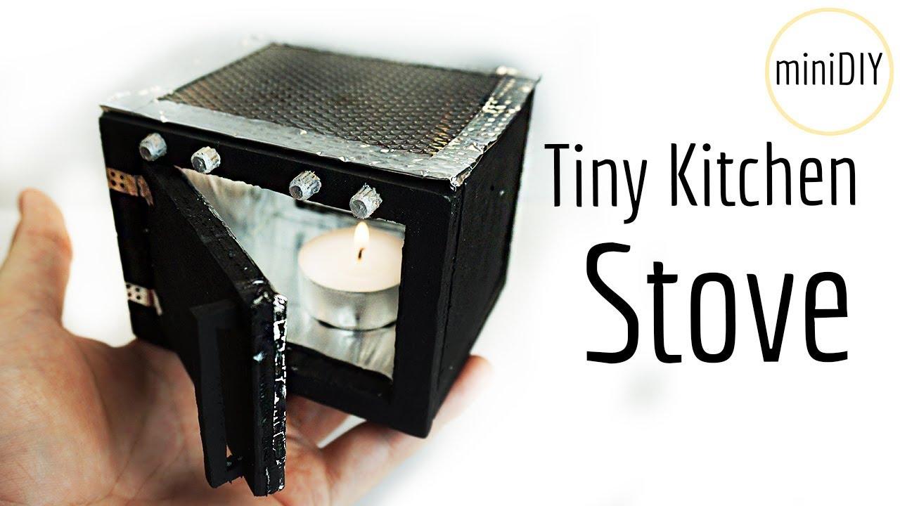 DIY Miniature Kitchen Stove that works! | DollHouse | miniDIY
