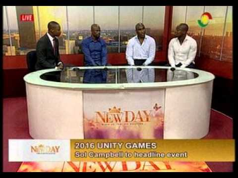 NewDay- Interview with Sol Cambell, Stephen Appiah and George Boateng on Unity Games - 18/1/2016