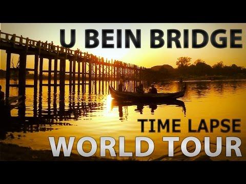 GoPro Timelapse - U Bein Bridge - Mandalay, Myanmar (Burma)