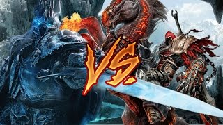 【RANDOM BATTLE】 Lich King vs War (Darksiders ) / Король Лич vs Война (Darksiders )